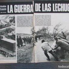 Coleccionismo de Revista Gaceta Ilustrada: RECORTE GACETA ILUSTRADA Nº 747 1971 LA GUERRA DE LAS LECHUGAS. MIDI FRANCES. 6 PGS. Lote 146062398