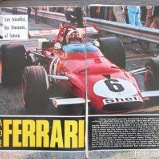 Coleccionismo de Revista Gaceta Ilustrada: RECORTE GACETA ILUSTRADA Nº 747 1971 FERRARI. TODA LA VERDAD. 5 PGS. Lote 146062570