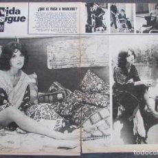 Coleccionismo de Revista Gaceta Ilustrada: RECORTE GACETA ILUSTRADA Nº 936 1974 MARLENE DIETRICH, ANNY DUPEREY . Lote 146063666