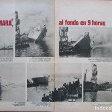 Coleccionismo de Revista Gaceta Ilustrada: RECORTE GACETA ILUSTRADA Nº 809 1972 NAUFRAGIO Y HUMDIMIENTO DEL BARCO MARMARA EN ESTAMBUL. Lote 146064170