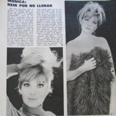 Coleccionismo de Revista Gaceta Ilustrada: RECORTE GACETA ILUSTRADA 889 1973 MONICA VITTI, SARA MONTIEL, URTAIN, TWIGGY. Lote 146955746