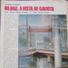 Coleccionismo de Revista Gaceta Ilustrada: RECORTE GACETA ILUSTRADA 901 1974 BILBAO 7 PGS. Lote 146956510