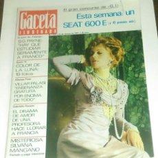 Coleccionismo de Revista Gaceta Ilustrada: GACETA ILUSTRADA NUM. 753, 14 DE MARZO DE 1971. Lote 159252142