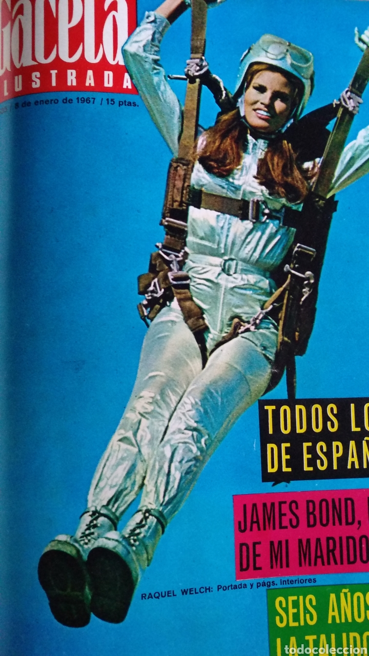 Coleccionismo de Revista Gaceta Ilustrada: COMPILACIÓN ENCUADERNADA DE 8 EJEMPLARES DE LA GACETA ILUSTRADA - Foto 4 - 159411949