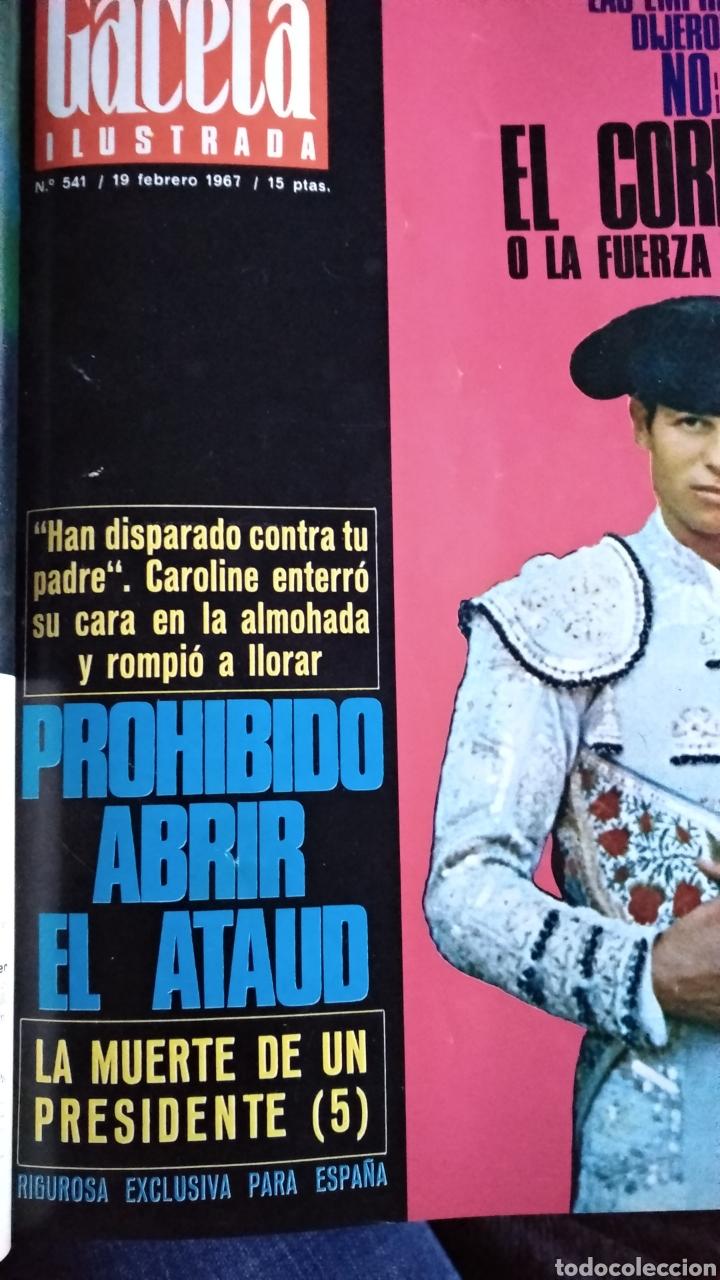 Coleccionismo de Revista Gaceta Ilustrada: COMPILACIÓN ENCUADERNADA DE 8 EJEMPLARES DE LA GACETA ILUSTRADA - Foto 3 - 159420136