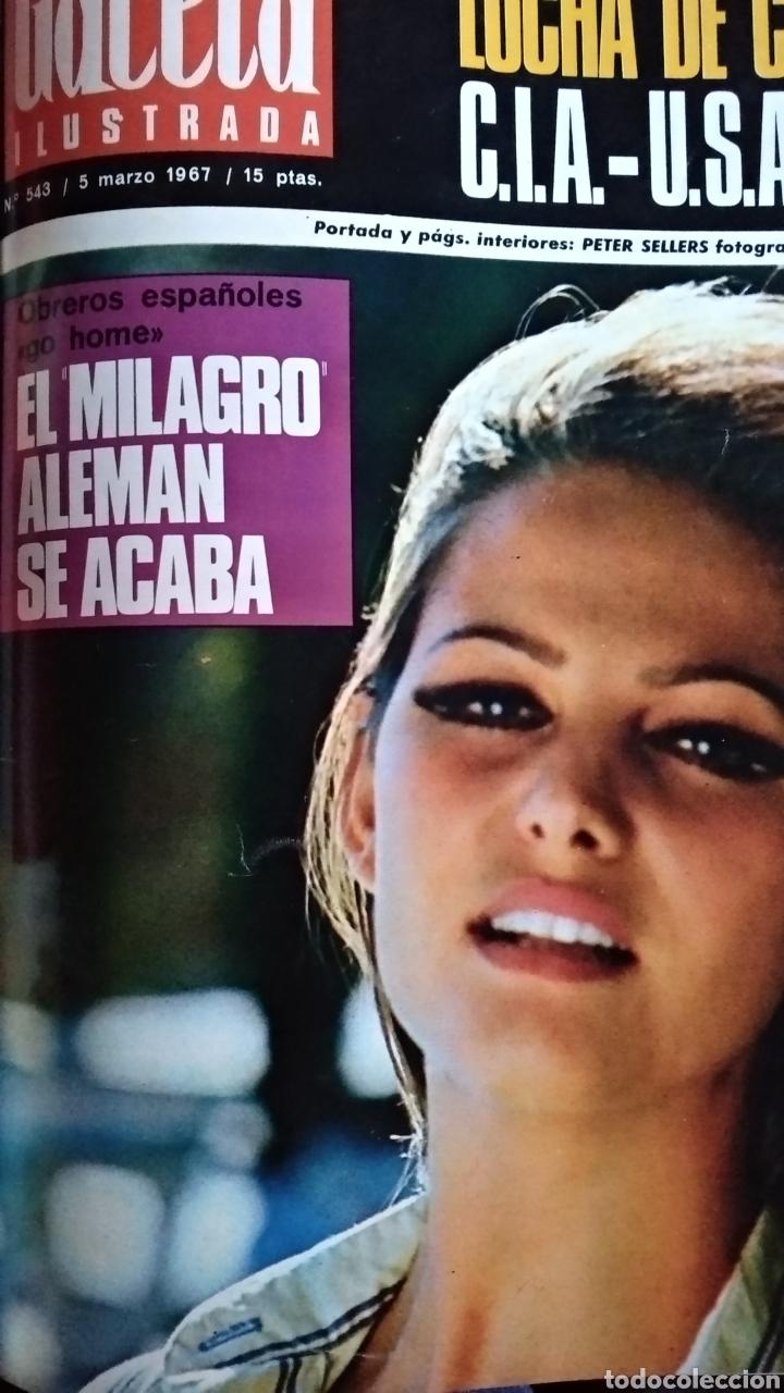 Coleccionismo de Revista Gaceta Ilustrada: COMPILACIÓN ENCUADERNADA DE 8 EJEMPLARES DE LA GACETA ILUSTRADA - Foto 4 - 159420136