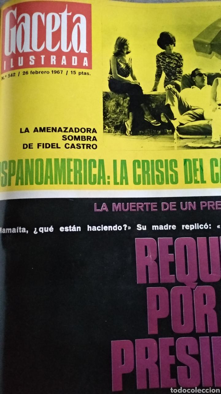 Coleccionismo de Revista Gaceta Ilustrada: COMPILACIÓN ENCUADERNADA DE 8 EJEMPLARES DE LA GACETA ILUSTRADA - Foto 7 - 159420136