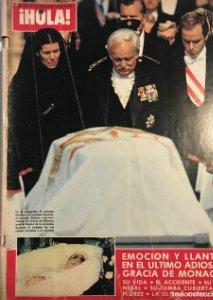 1982 ¡Hola! Nº1988 Funeral y muerte de la princesa Gracia de Mónaco, G.Kelly, S.Loren, J.Iglesias