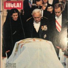 Coleccionismo de Revista Gaceta Ilustrada: 1982 ¡HOLA! Nº1988 FUNERAL Y MUERTE DE LA PRINCESA GRACIA DE MÓNACO, G.KELLY, S.LOREN, J.IGLESIAS. Lote 159458478