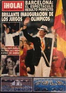 1992 ¡HOLA! Nº 2504 Inauguración Juegos olímpicos de Barcelona. 6 de agosto de 1992