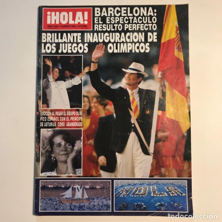 Coleccionismo de Revista Gaceta Ilustrada: 1992 ¡HOLA! Nº 2504 Inauguración Juegos olímpicos de Barcelona. 6 de agosto de 1992 - Foto 2 - 159459582