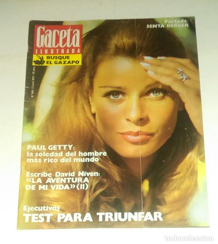 GACETA ILUSTRADA NUM. 869, 3 JUNIO 1973. (Coleccionismo - Revistas y Periódicos Modernos (a partir de 1.940) - Revista Gaceta Ilustrada)