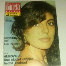 Coleccionismo de Revista Gaceta Ilustrada: GACETA ILUSTRADA NUM. 887, 7 OCTUBRE 1973.. Lote 161187162