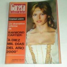 Coleccionismo de Revista Gaceta Ilustrada: GACETA ILUSTRADA NUM. 814, 14 MAYO 1972.. Lote 161378682