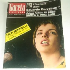 Coleccionismo de Revista Gaceta Ilustrada: GACETA ILUSTRADA NUM. 813, 7 MAYO 1972.. Lote 161379374