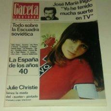 Coleccionismo de Revista Gaceta Ilustrada: GACETA ILUSTRADA NUM. 797, 16 ENERO 1972.. Lote 161408398