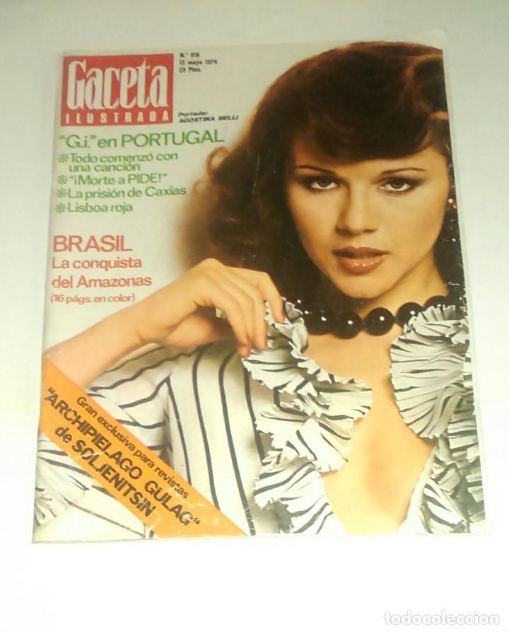 GACETA ILUSTRADA NUM. 918, 12 MAYO 1974. (Coleccionismo - Revistas y Periódicos Modernos (a partir de 1.940) - Revista Gaceta Ilustrada)