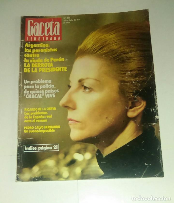 GACETA ILUSTRADA NUM. 980, 20 JULIO 1975. (Coleccionismo - Revistas y Periódicos Modernos (a partir de 1.940) - Revista Gaceta Ilustrada)