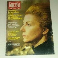 Coleccionismo de Revista Gaceta Ilustrada: GACETA ILUSTRADA NUM. 980, 20 JULIO 1975.. Lote 161486706
