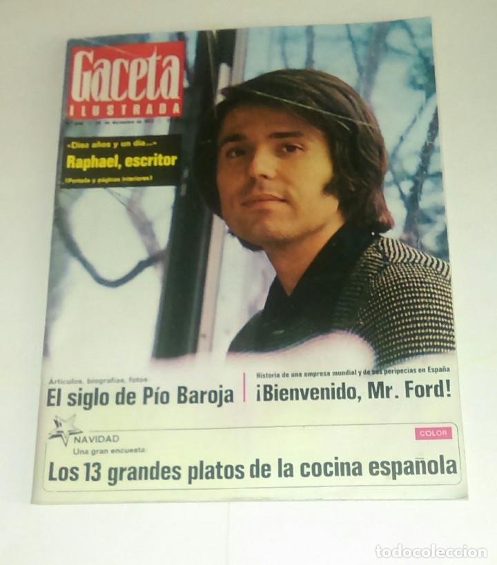 GACETA ILUSTRADA NUM. 846, 24 DICIEMBRE 1972. (Coleccionismo - Revistas y Periódicos Modernos (a partir de 1.940) - Revista Gaceta Ilustrada)