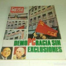 Coleccionismo de Revista Gaceta Ilustrada: DEMOPCRACIA SIN EXCLUSIONES. GACETA ILUSTRADA N° 1.071- 17 ABRIL 1977. Lote 163404726