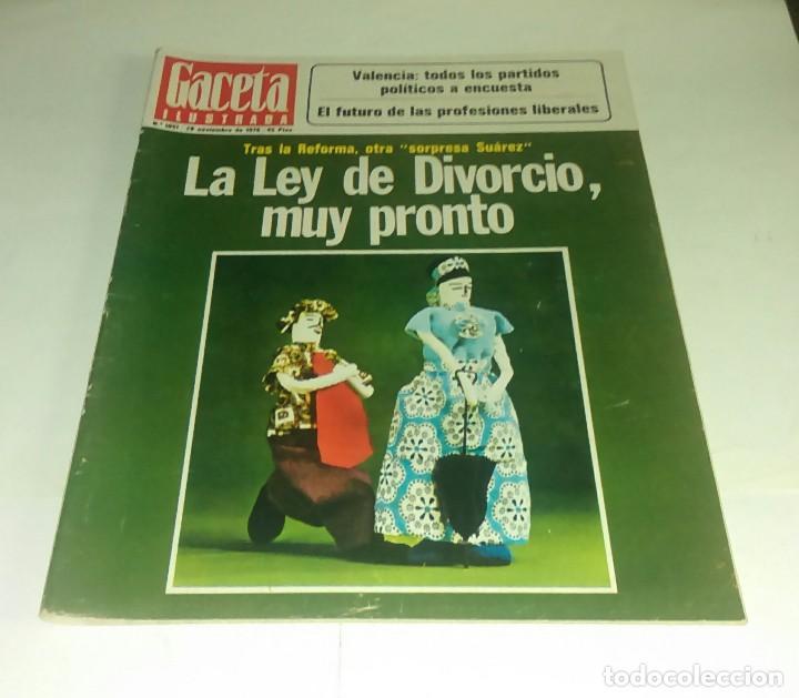 GACETA ILUSTRADA N° 1.051- 28 NOVIEMBRE 1976 (Coleccionismo - Revistas y Periódicos Modernos (a partir de 1.940) - Revista Gaceta Ilustrada)