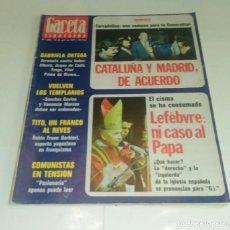 Coleccionismo de Revista Gaceta Ilustrada: TARRADELLAS...LEFEBVRE. GACETA ILUSTRADA N° 1.083 - 10 JULIO 1977.. Lote 163594214