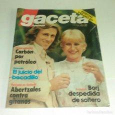Coleccionismo de Revista Gaceta Ilustrada: CARBON PETROLEO...BORJ DESPEDIDA DE SOLTERO. GACETA ILUSTRADA N° 1.243 - 3 AGOSTO 1980.. Lote 163596738