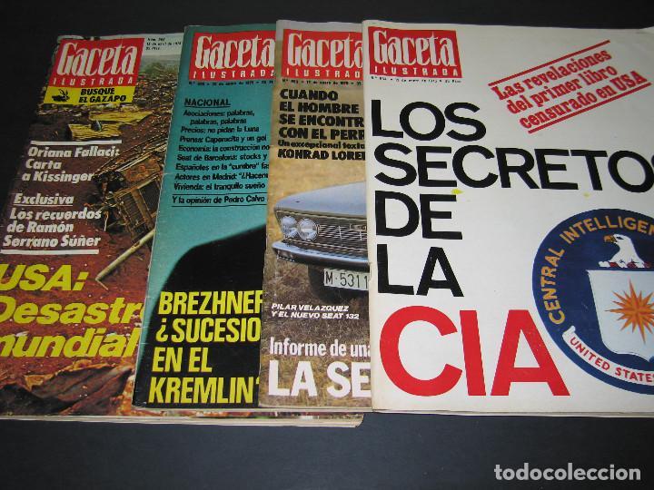 Coleccionismo de Revista Gaceta Ilustrada: 4 Revistas GACETA ILUSTRADA - 1975 - núm. 953 de 12.01 - 954 de 19.01 - 955 de 26.01 - 966 de 13.04 - Foto 2 - 166929344