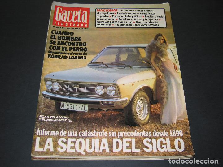 Coleccionismo de Revista Gaceta Ilustrada: 4 Revistas GACETA ILUSTRADA - 1975 - núm. 953 de 12.01 - 954 de 19.01 - 955 de 26.01 - 966 de 13.04 - Foto 3 - 166929344