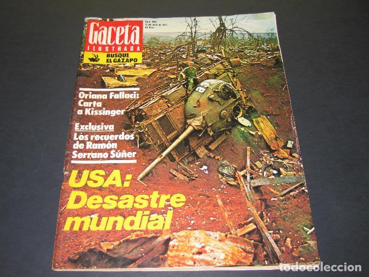 Coleccionismo de Revista Gaceta Ilustrada: 4 Revistas GACETA ILUSTRADA - 1975 - núm. 953 de 12.01 - 954 de 19.01 - 955 de 26.01 - 966 de 13.04 - Foto 12 - 166929344