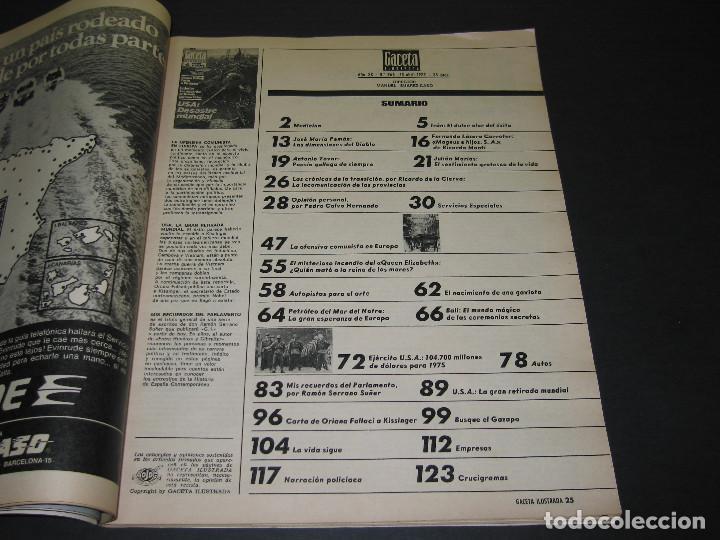 Coleccionismo de Revista Gaceta Ilustrada: 4 Revistas GACETA ILUSTRADA - 1975 - núm. 953 de 12.01 - 954 de 19.01 - 955 de 26.01 - 966 de 13.04 - Foto 13 - 166929344