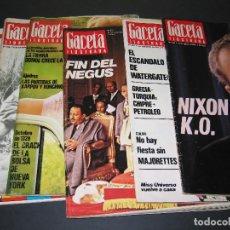Coleccionismo de Revista Gaceta Ilustrada: 6 GACETA ILUST. - 1974 - NÚM. 932 18.08 - 934 01.09 - 937 22.09 - 942 27.10 - 946 24.11 - 951 29.12. Lote 166929656