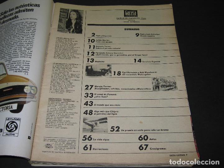Coleccionismo de Revista Gaceta Ilustrada: 6 GACETA ILUST. - 1974 - núm. 932 18.08 - 934 01.09 - 937 22.09 - 942 27.10 - 946 24.11 - 951 29.12 - Foto 7 - 166929656