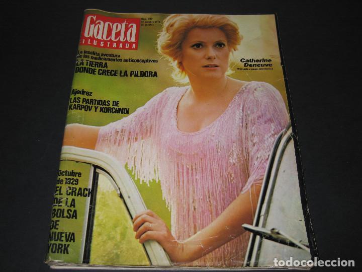 Coleccionismo de Revista Gaceta Ilustrada: 6 GACETA ILUST. - 1974 - núm. 932 18.08 - 934 01.09 - 937 22.09 - 942 27.10 - 946 24.11 - 951 29.12 - Foto 12 - 166929656