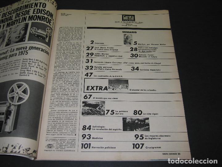 Coleccionismo de Revista Gaceta Ilustrada: 6 GACETA ILUST. - 1974 - núm. 932 18.08 - 934 01.09 - 937 22.09 - 942 27.10 - 946 24.11 - 951 29.12 - Foto 23 - 166929656