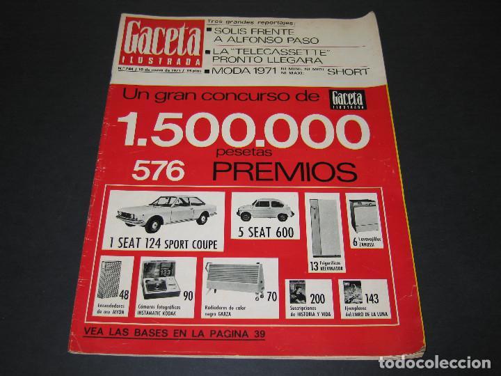 REVISTA GACETA ILUSTRADA - NÚM. 744 - GRAN CONCURSO - 10.01.1971 - 58 PÁG. (Coleccionismo - Revistas y Periódicos Modernos (a partir de 1.940) - Revista Gaceta Ilustrada)