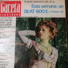 Coleccionismo de Revista Gaceta Ilustrada: GACETA ILUSTRADA Nº753 1971 DRAMA RIO SELLA(ASTURIAS)-SILVANA MANGANO -RAQUEL WELCH. Lote 168084048