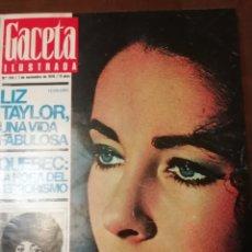 Coleccionismo de Revista Gaceta Ilustrada: GACETA ILUSTRADA Nº 734 1970 CHIBANGA ANTE PICASSO -LIZ TAYLOR UNA VIDA FABULOSA. Lote 168088700