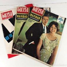 Coleccionismo de Revista Gaceta Ilustrada: REVISTA SEMANAL. GACETA ILUSTRADA. 3 EJEMPLARES. BARCELONA. 1963-1966.. Lote 168776648
