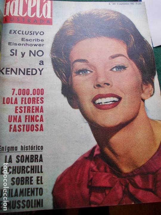 Coleccionismo de Revista Gaceta Ilustrada: GACETA ILUSTRADA AÑO 1962 COMPLETA FOTOS DE LAS PORTADAS - Foto 18 - 169743932
