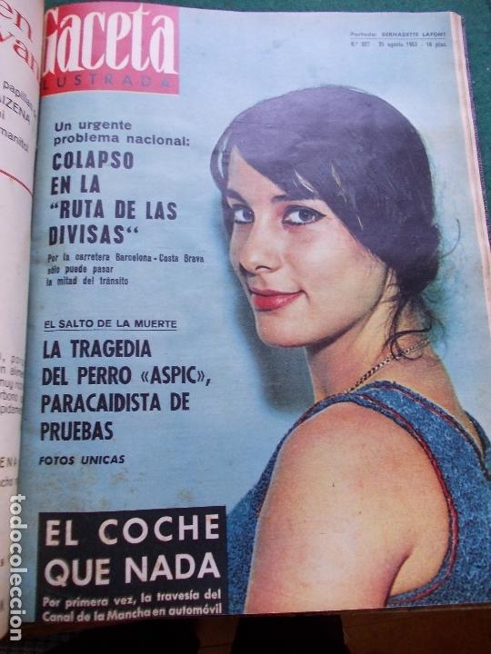Coleccionismo de Revista Gaceta Ilustrada: GACETA ILUSTRADA AÑO 1962 COMPLETA FOTOS DE LAS PORTADAS - Foto 20 - 169743932