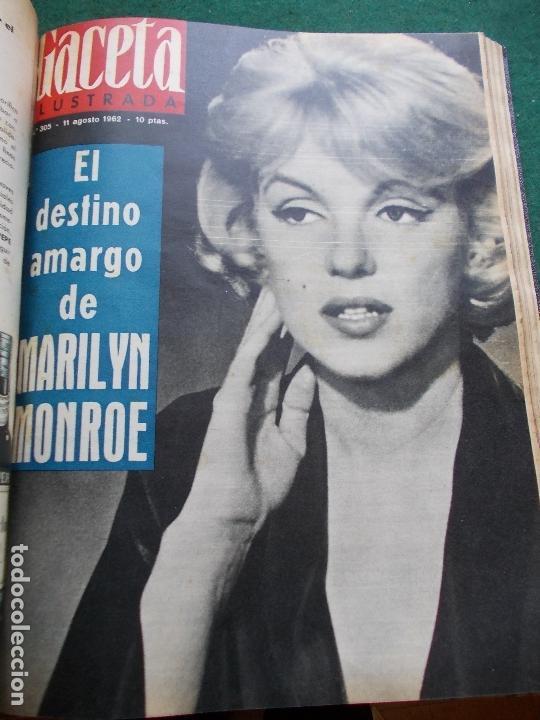 Coleccionismo de Revista Gaceta Ilustrada: GACETA ILUSTRADA AÑO 1962 COMPLETA FOTOS DE LAS PORTADAS - Foto 22 - 169743932