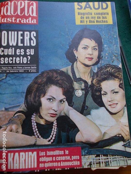 Coleccionismo de Revista Gaceta Ilustrada: GACETA ILUSTRADA AÑO 1962 COMPLETA FOTOS DE LAS PORTADAS - Foto 41 - 169743932
