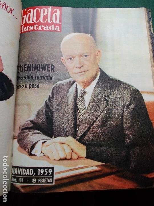 Coleccionismo de Revista Gaceta Ilustrada: ACETA ILUSTRADA 1959 COMPLETA MAS DE 52 REVISTAS FOTOS DE LAS PORTADAS - Foto 3 - 169855664