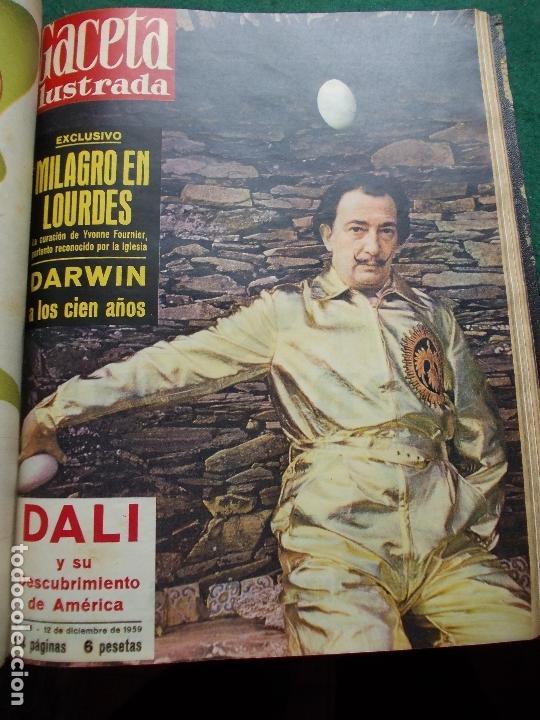Coleccionismo de Revista Gaceta Ilustrada: ACETA ILUSTRADA 1959 COMPLETA MAS DE 52 REVISTAS FOTOS DE LAS PORTADAS - Foto 4 - 169855664