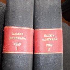 Coleccionismo de Revista Gaceta Ilustrada: ACETA ILUSTRADA 1959 COMPLETA MAS DE 52 REVISTAS FOTOS DE LAS PORTADAS. Lote 169855664