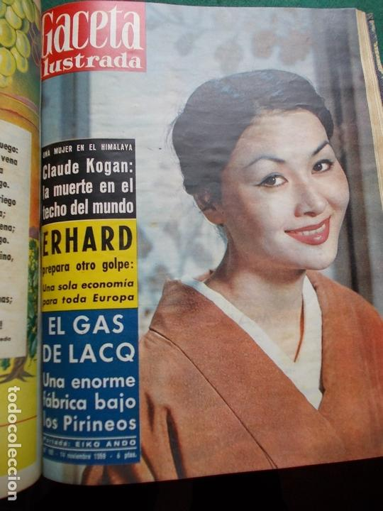 Coleccionismo de Revista Gaceta Ilustrada: ACETA ILUSTRADA 1959 COMPLETA MAS DE 52 REVISTAS FOTOS DE LAS PORTADAS - Foto 8 - 169855664
