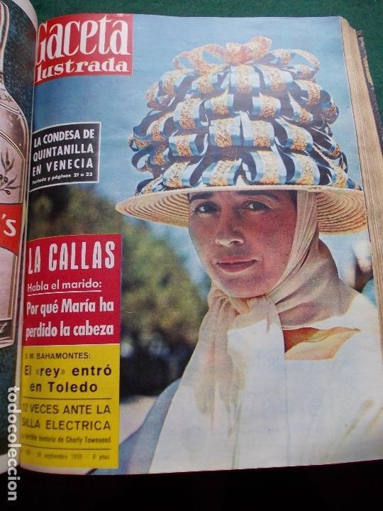 Coleccionismo de Revista Gaceta Ilustrada: ACETA ILUSTRADA 1959 COMPLETA MAS DE 52 REVISTAS FOTOS DE LAS PORTADAS - Foto 15 - 169855664