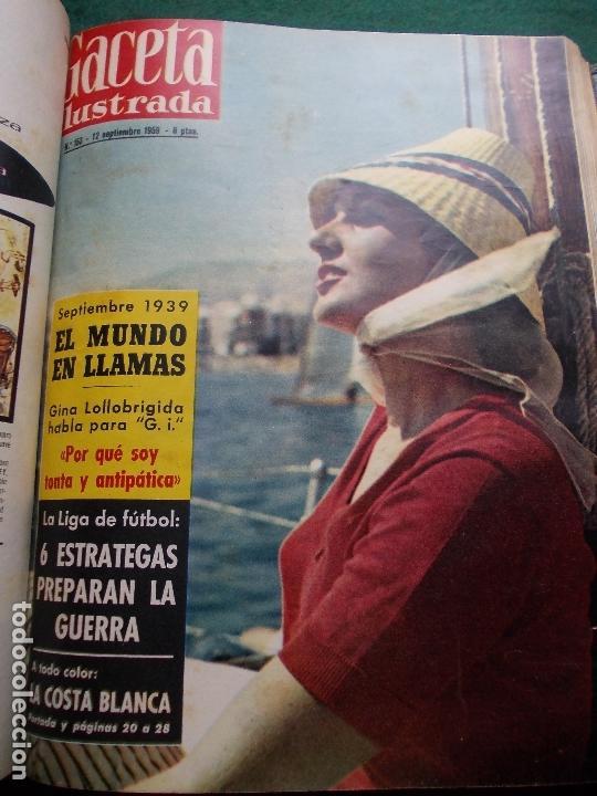 Coleccionismo de Revista Gaceta Ilustrada: ACETA ILUSTRADA 1959 COMPLETA MAS DE 52 REVISTAS FOTOS DE LAS PORTADAS - Foto 17 - 169855664
